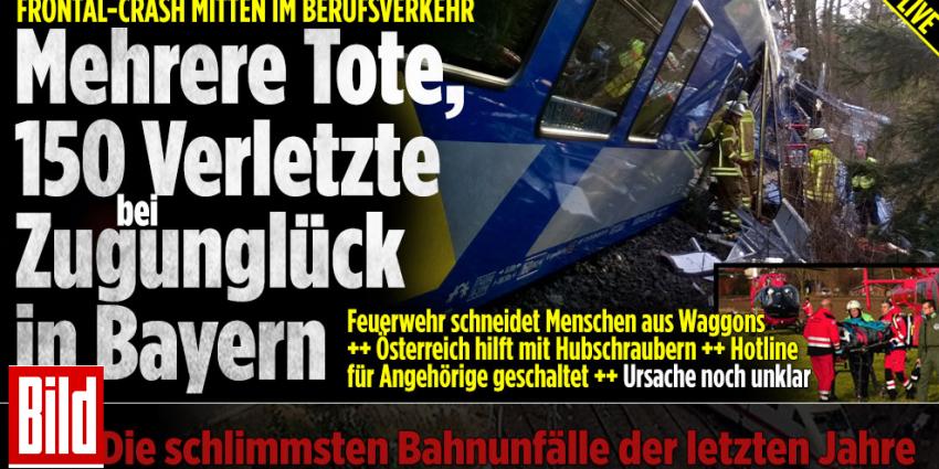 Doden en meer dan 150 gewonden bij botsing treinen in Duitsland