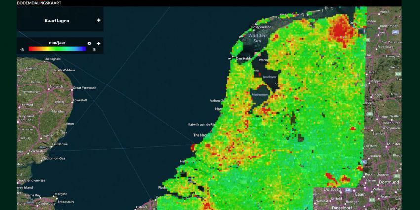 gaswinning nederland kaart TU Delft: Op meer plekken in Nederland dan verwacht daalt de bodem
