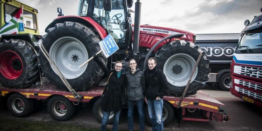 Boeren toch met trekkers in Den Haag