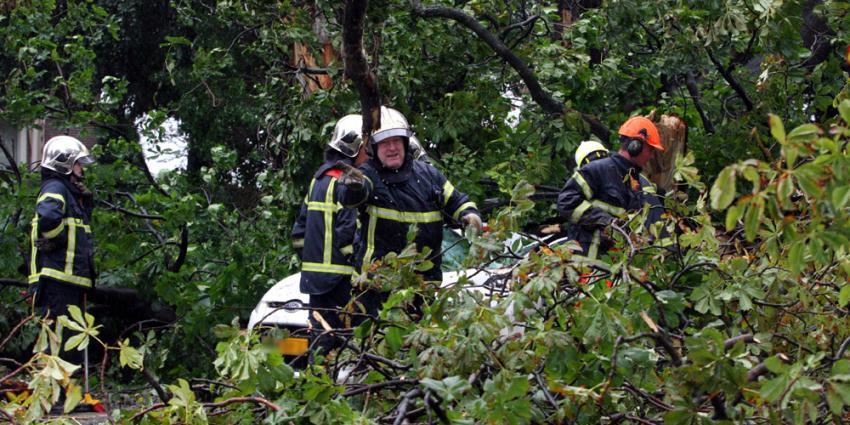 Zomerstorm; omgewaaide bomen, afgebroken takken en veel hinder voor verkeer