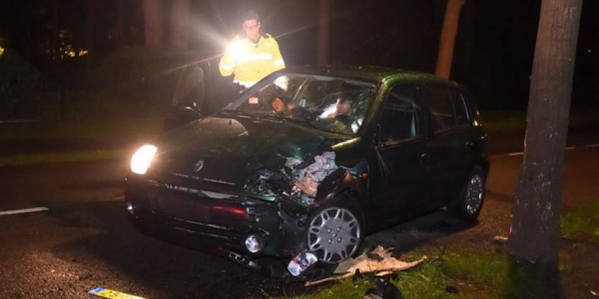 Alcomobilist rijdt auto total loss