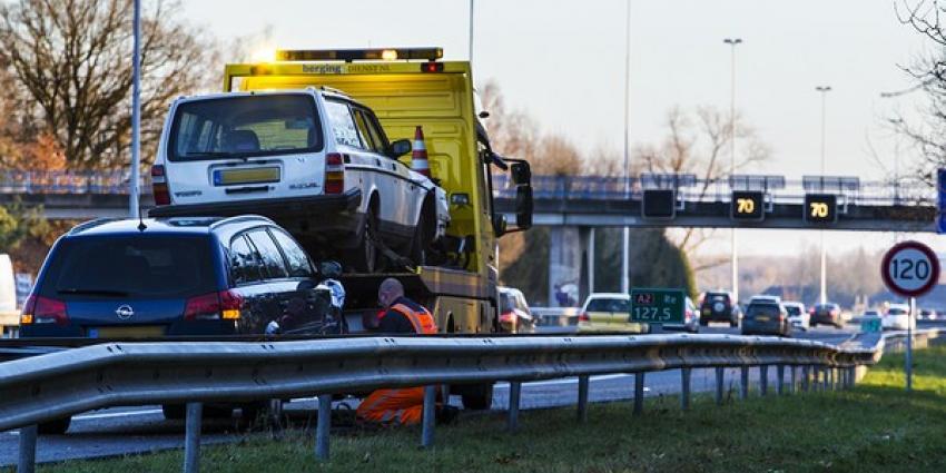 Ongeval met meerdere voertuigen op snelweg bij Boxtel