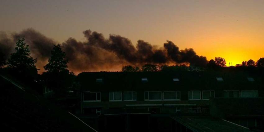 Foto van brand bij ELD Oosterhout | Adrie Keulemans