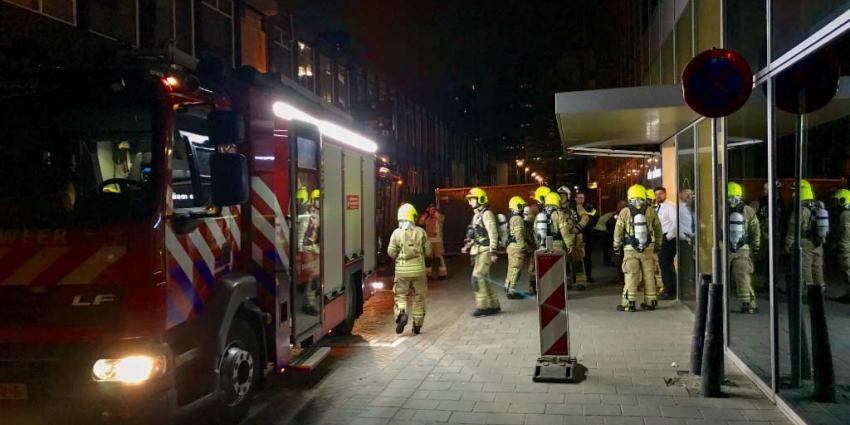 Ontruiming bij brand Rotterdams hotel