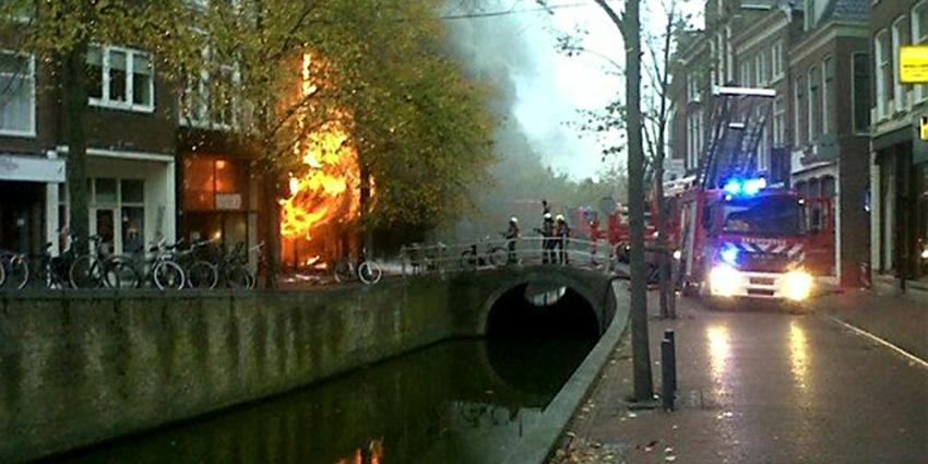 Brand binnenstad Leeuwarden   Edwin Tjalling/112fryslan.nl   www.112fryslan.nl