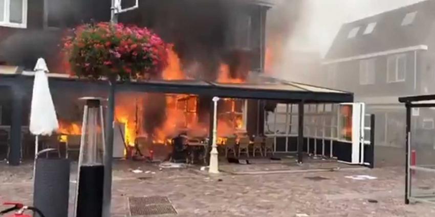 Gewonden bij grote brand restaurant Egmond aan Zee