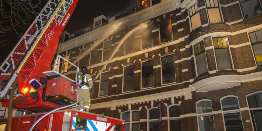Grote brand Rotterdam verwoest woningen
