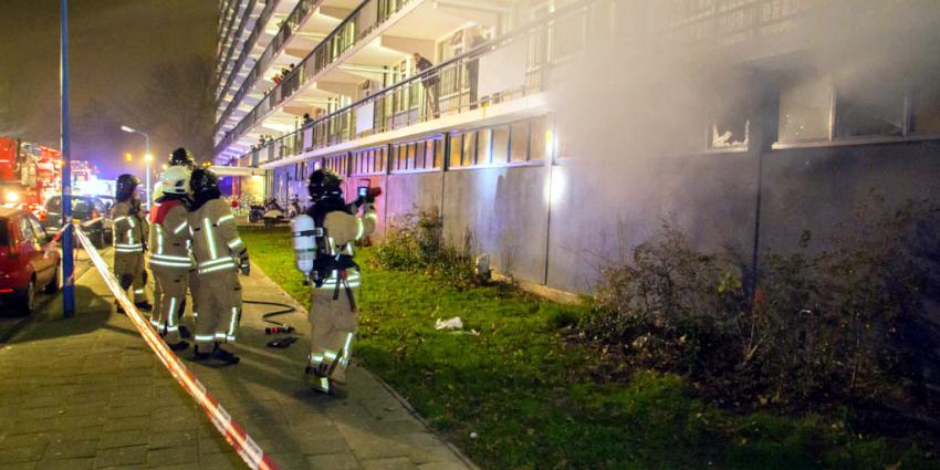 Grote brand in kelderboxen flat Maassluis