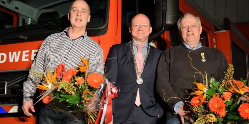 Koninklijke onderscheiding voor brandweermannen in De Ronde Venen