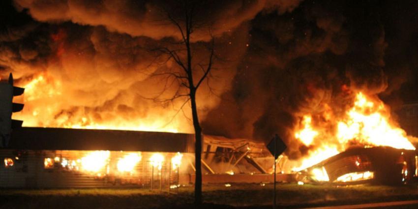 Brand in voormalig zwembad onder controle
