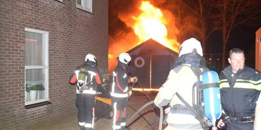 Garage brand af in Fluitenberg
