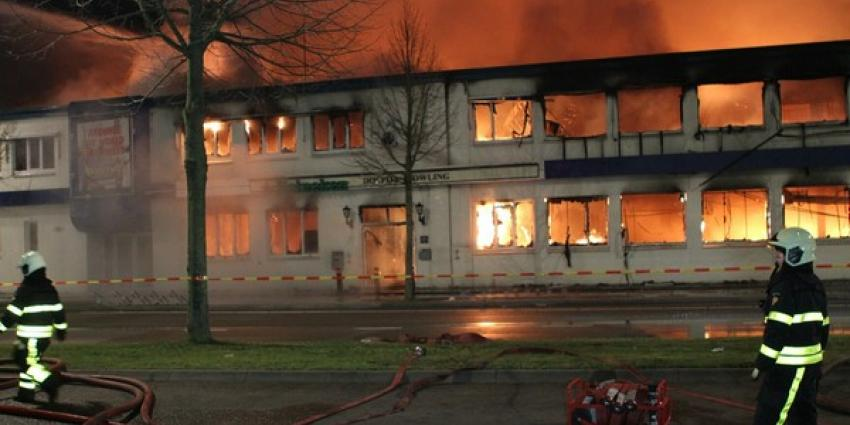 Overlast bij grote brand in partycentrum Tilburg