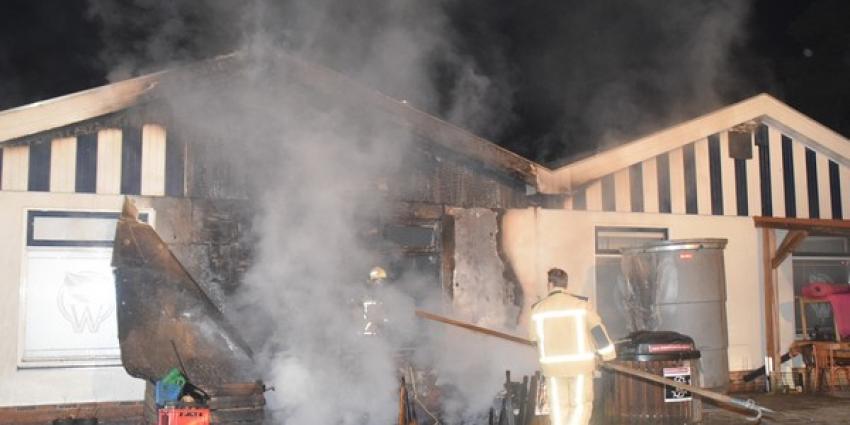 Fikse schade bij brand op recreatiepark in Echten