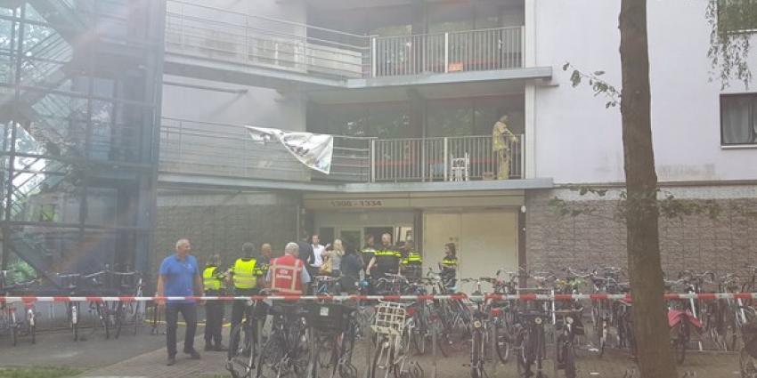 Dode en vier gewonden bij brand studentenflat Diemen
