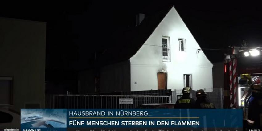Vier jonge kinderen en vrouw komen om bij brand in Neurenberg