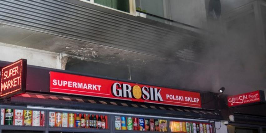 Forensische Opsporing onderzoekt brand Poolse supermarkt