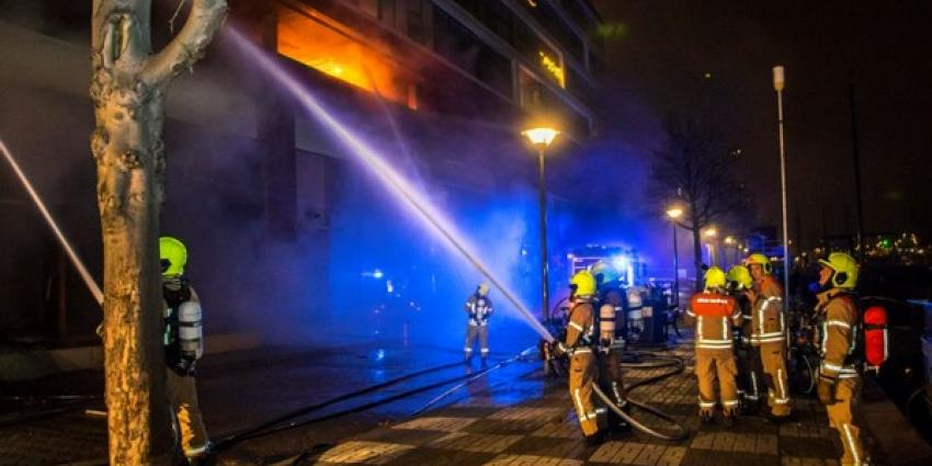 Grote brand in Lounchebar Comptoir in Rotterdam