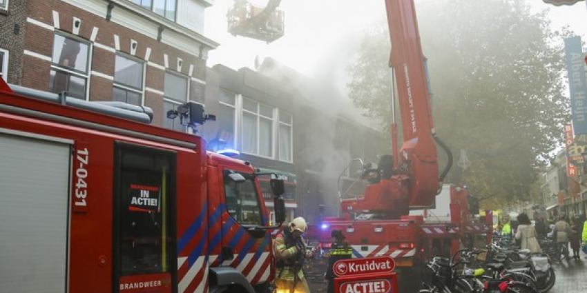 Grote brand in pand van Outlet fashion italy