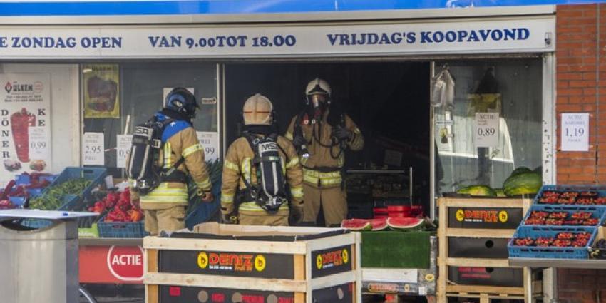 Grote brand in supermarkt Rotterdam