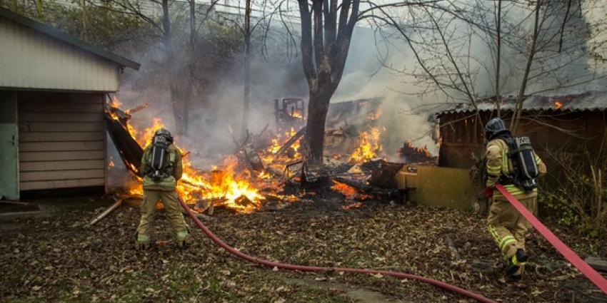 Meerdere tuinhuisjes afgebrand in Rotterdam