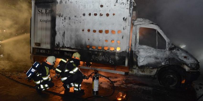 Brand vrachtwagen kringloopwinkel | Aneo Koning | www.fotokoning.nl