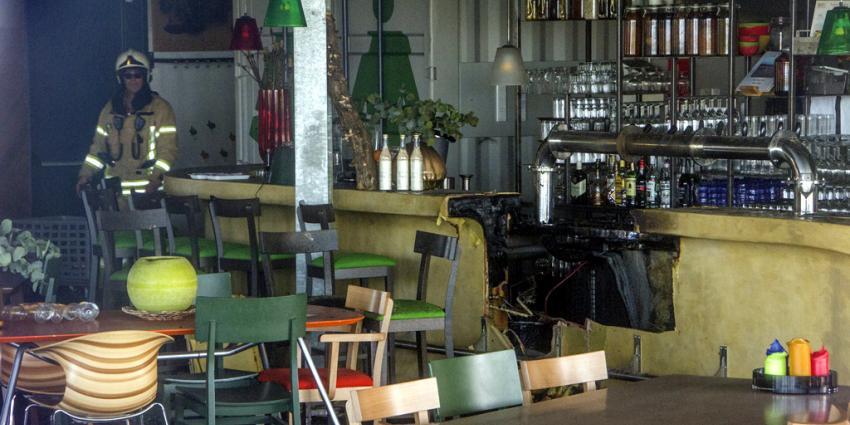 Grote brand restaurant Oostvoorne