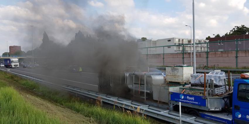 vrachtwagen, brand, a59