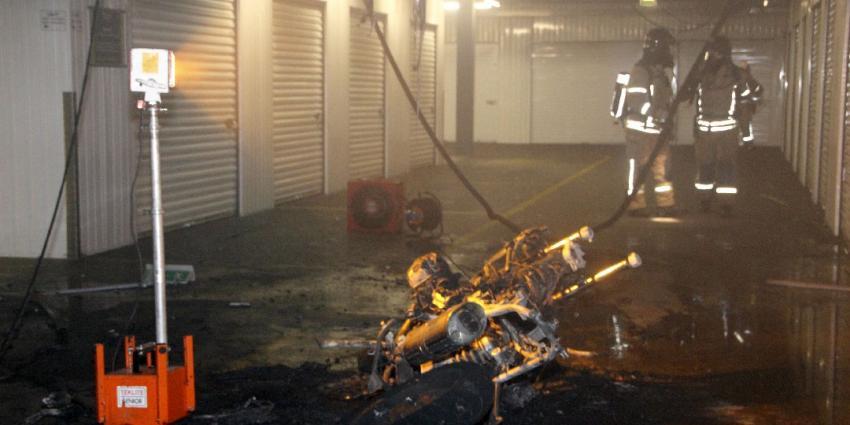 Brand in opslagbox in Schiedam