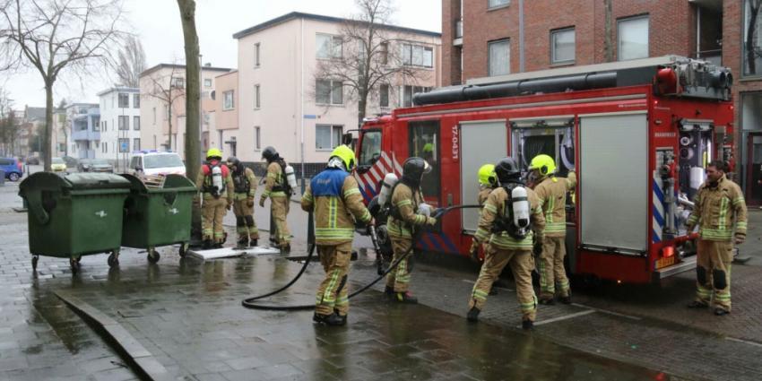 Brand pand Rotterdam blijkt containerbrand