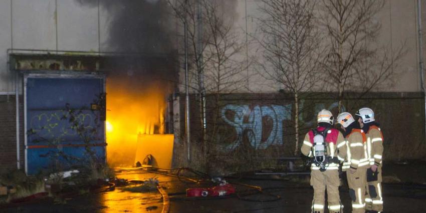 Grote brand in pand in Vlaardingen