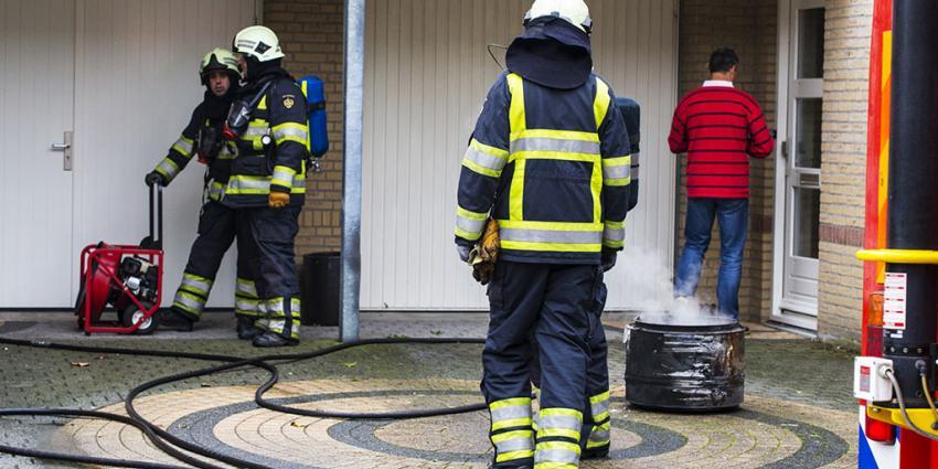Woningbrand door brand in wasdroger