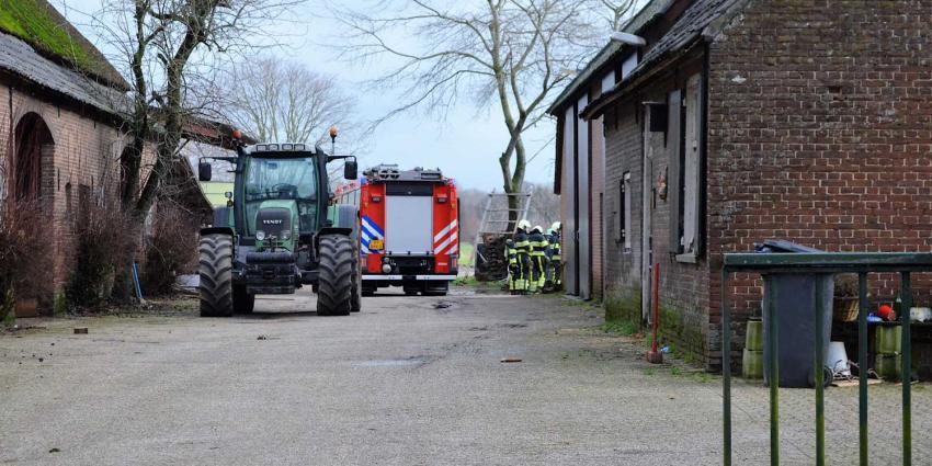 Brand bij agrarisch bedrijf in buitengebied van Gemonde