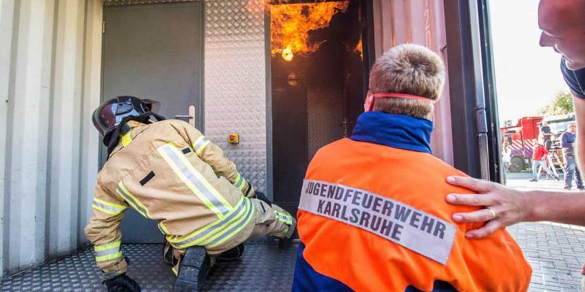 Al 38 jaar unieke vriendschap jeugdbrandweer Vlaardingen en Duitse Neureut