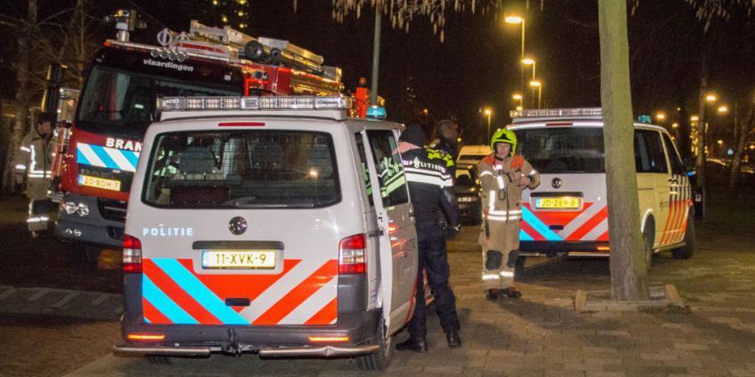 Door politie gezochte man hangt op z'n kop in spouwmuur vast