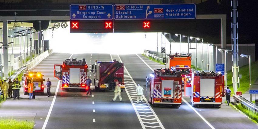 Ketheltunnel A4 dicht voor brandweeroefening