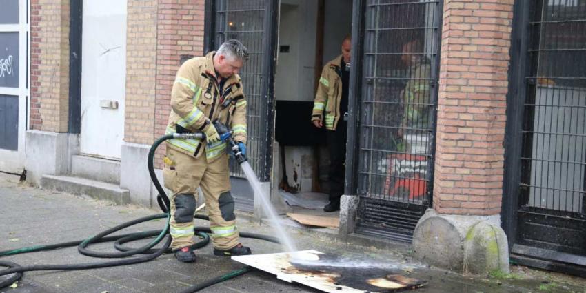 Brand in tafel in Vlaardingen