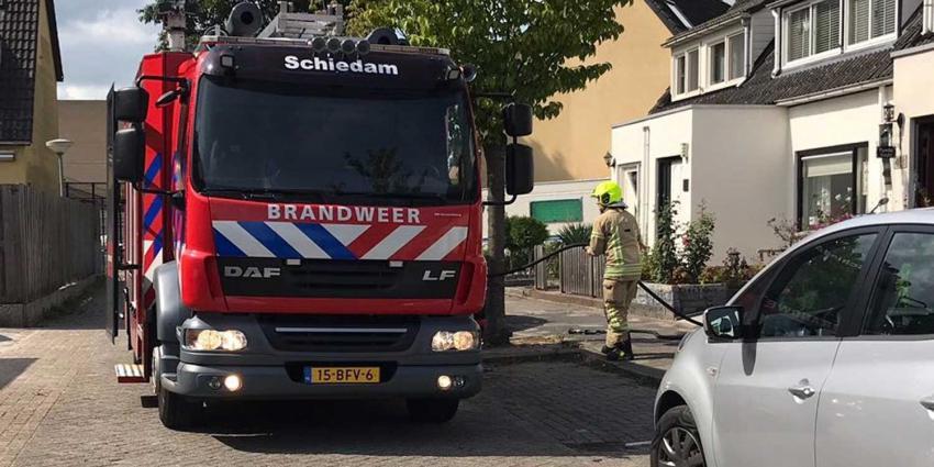 Brand in schuur in Schiedam