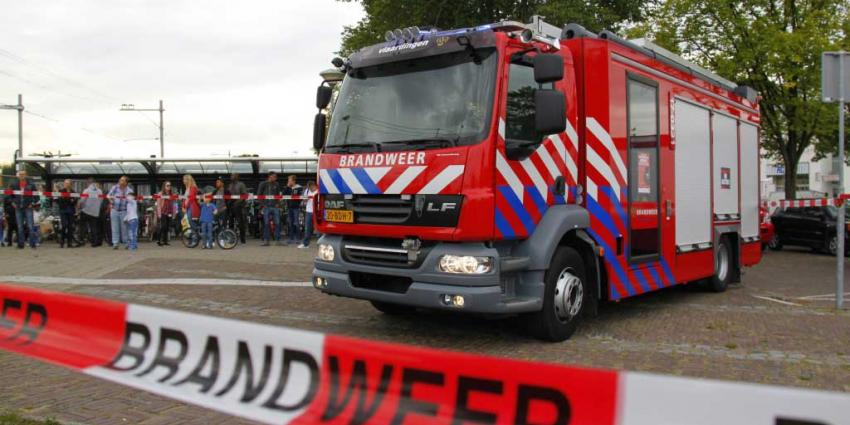 Bovenleiding in brand in Vlaardingen