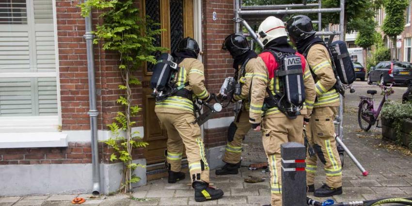 Brand op zolder woning Schiedam