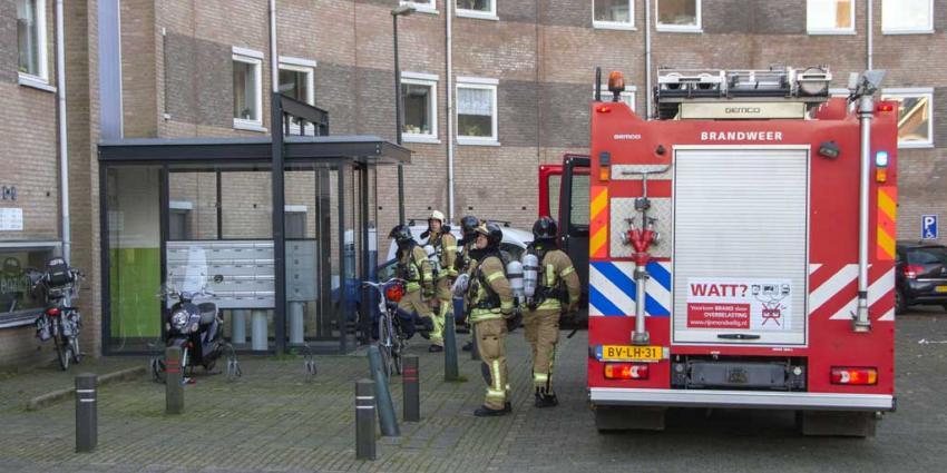 Lichtgewonde bij woningbrand flat Vlaardingen