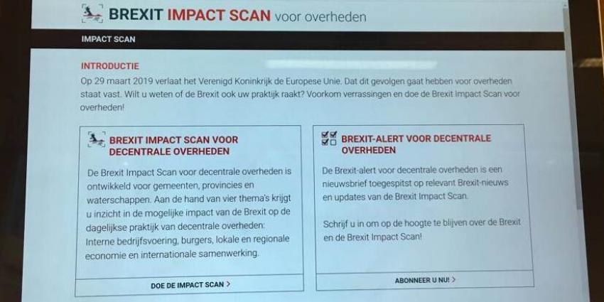 Brexit Impact Scan voor decentrale overheden gelanceerd