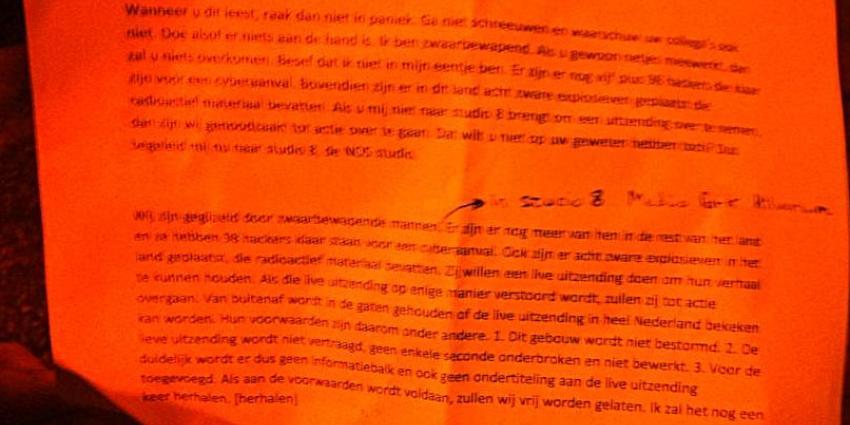 Man waarschuwt in brief voor hackersaanval en geplaatste bommen
