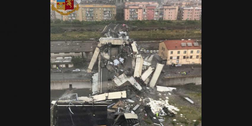 Grote snelwegbrug in Italië ingestort, slachtoffers onder puin