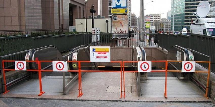 Ingang metro Brussel
