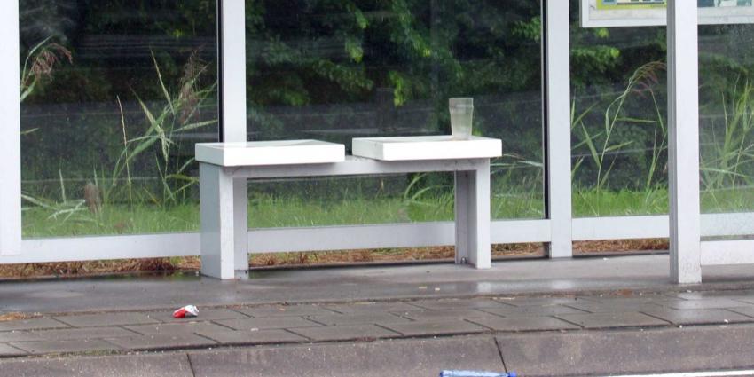 Bejaarde krijgt boete voor uitrusten in bushalte