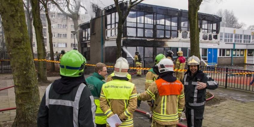 Grote brand verwoest buurthuis Rotterdam