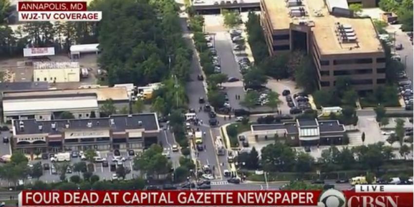 Vier doden bij schietpartij redactie Amerikaanse krant