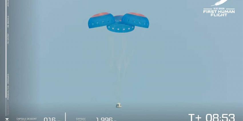 capsule-touchdown-bezos-new-shepard-ruimtereis