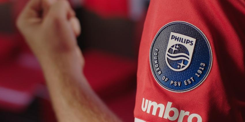 Philips onthult mouwbadge: Philips founder of PSV