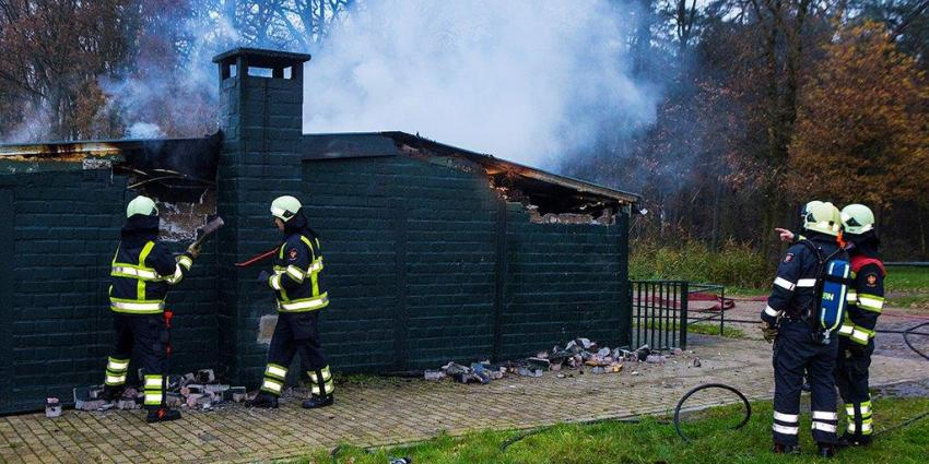 Clubhuis politiehondenvereniging Schijndel afgebrand